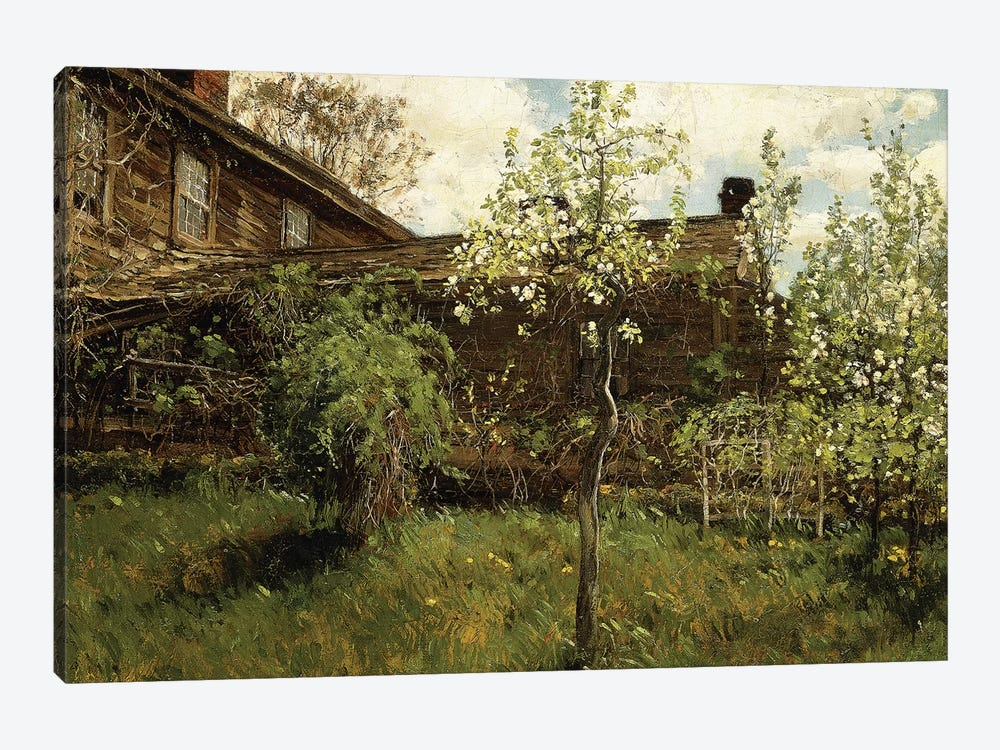 Old House, Dorchester, 1884  by Childe Hassam 1-piece Canvas Art