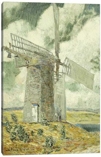 Bending Sail on the Old Mill, Bridgehampton, 1920  Canvas Art Print