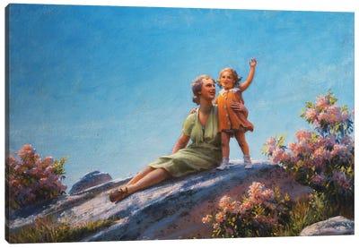 A Happy Moment, 1919  Canvas Art Print