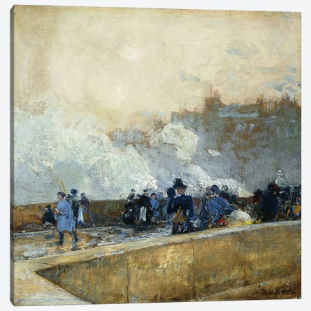 Windy Day, Paris, 1889  Canvas Print #BMN5863} by Childe Hassam Canvas Art Print