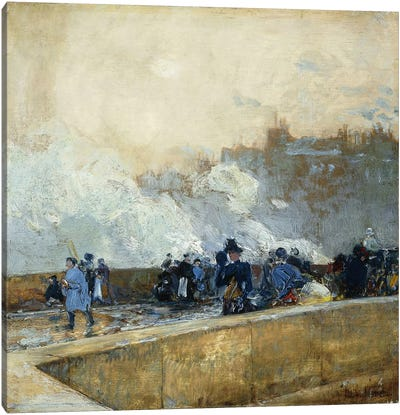 Windy Day, Paris, 1889  Canvas Print #BMN5863
