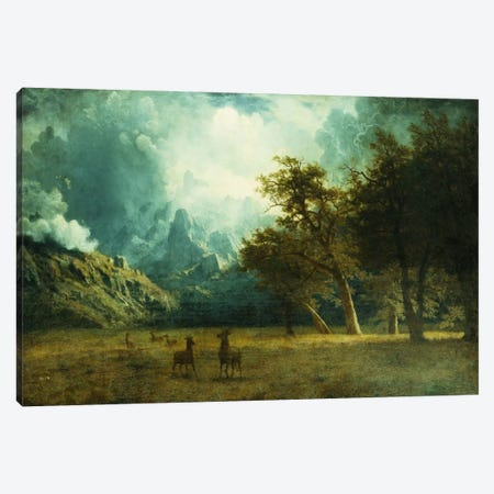 Storm on Laramie Peak, c. 1883 Canvas Print #BMN5864} by Albert Bierstadt Canvas Wall Art