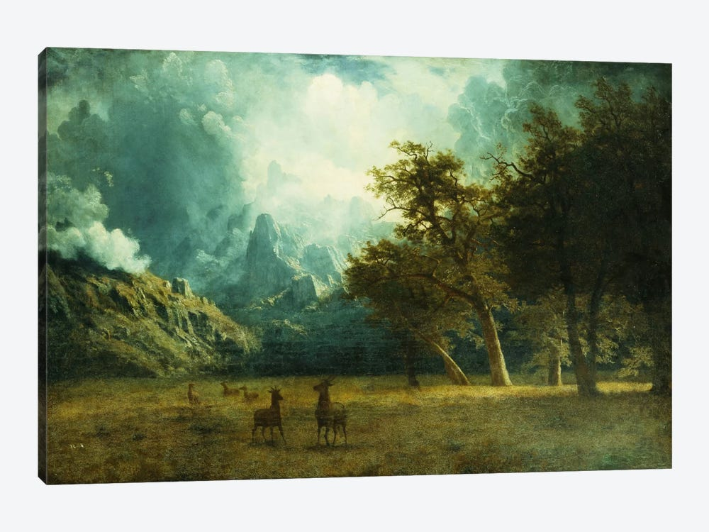 Storm on Laramie Peak, c. 1883 by Albert Bierstadt 1-piece Canvas Art