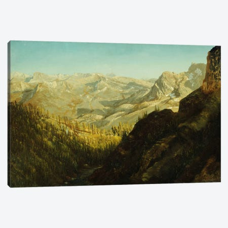Sierra Nevada Mountains, California,  Canvas Print #BMN5866} by Albert Bierstadt Canvas Wall Art
