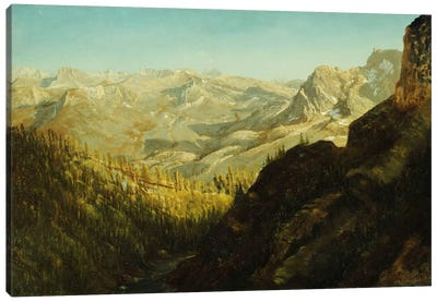 Sierra Nevada Mountains, California, by Albert Bierstadt Canvas Wall Art