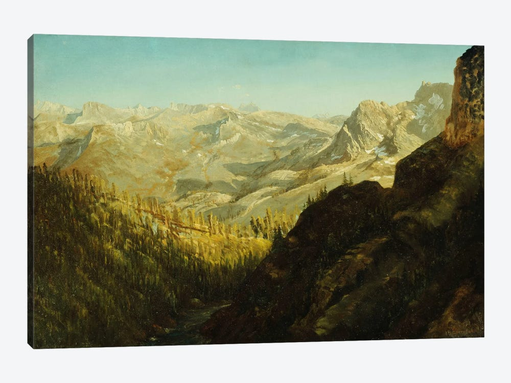 Sierra Nevada Mountains, California,  by Albert Bierstadt 1-piece Canvas Artwork