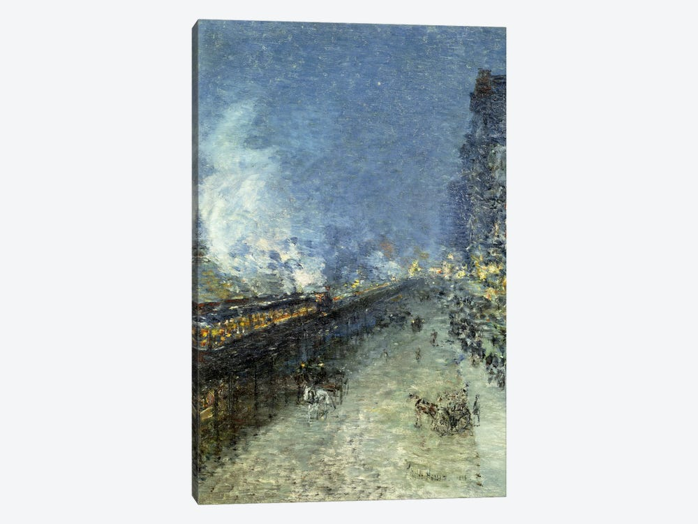 Sixth Avenue El - Nocturne (The El, New York), 1894 by Childe Hassam 1-piece Art Print