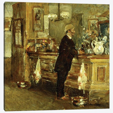 McSorley's Bar, 1891  Canvas Print #BMN5868} by Childe Hassam Canvas Print