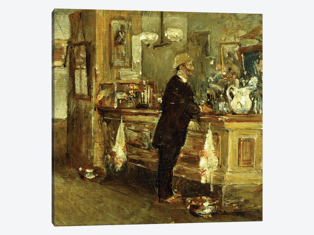 McSorley's Bar, 1891  by Childe Hassam 1-piece Canvas Wall Art