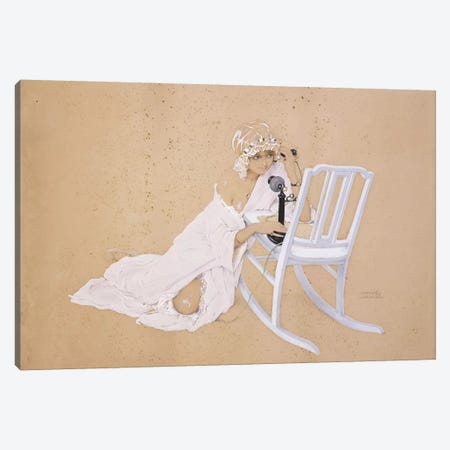 The Conversation Canvas Print #BMN5871} by Raphael Kirchner Canvas Wall Art