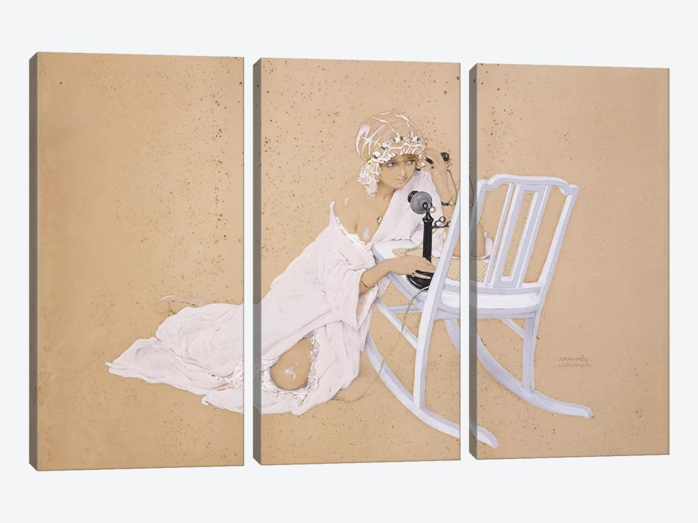 The Conversation by Raphael Kirchner 3-piece Canvas Artwork