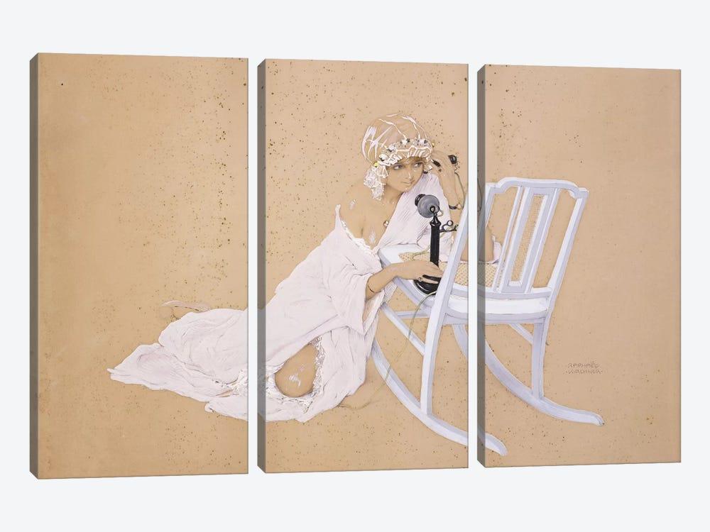 The Conversation by Raphael Kirchner 3-piece Canvas Artwork