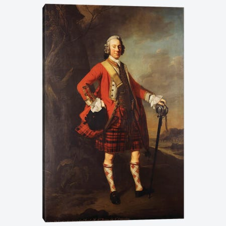 Portrait of John Campbell, 4th Earl of Loudon  Canvas Print #BMN5873} by Allan Ramsay Canvas Art
