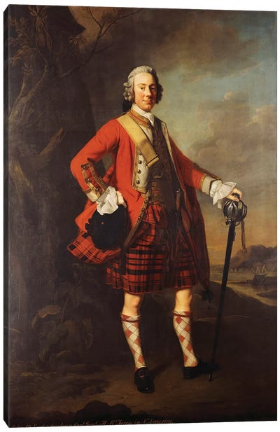 Portrait of John Campbell, 4th Earl of Loudon  Canvas Art Print