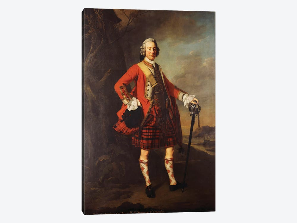 Portrait of John Campbell, 4th Earl of Loudon  by Allan Ramsay 1-piece Canvas Artwork