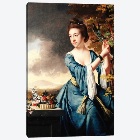Portrait of Elizabeth, Mrs John Bostock, c.1769  Canvas Print #BMN5874} by Joseph Wright of Derby Canvas Print