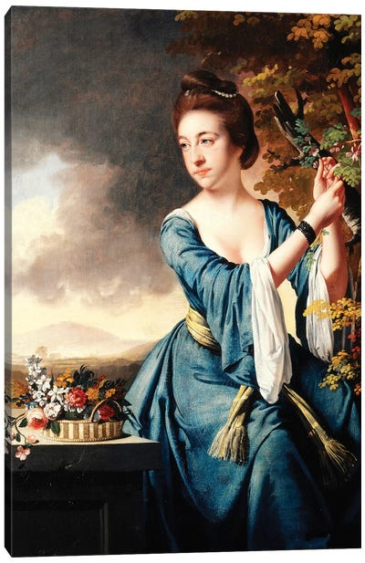 Portrait of Elizabeth, Mrs John Bostock, c.1769  Canvas Art Print