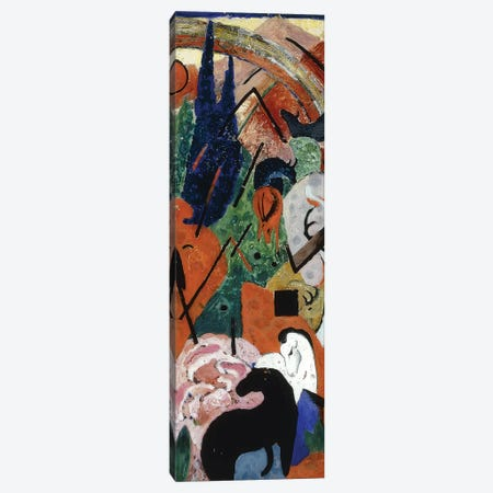 Landscape with Animals and Rainbow; Landschaft mit Tieren und Regenbogen, 1911  Canvas Print #BMN5878} by Franz Marc Canvas Wall Art