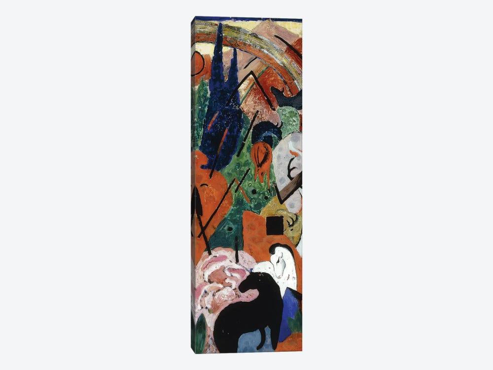 Landscape with Animals and Rainbow; Landschaft mit Tieren und Regenbogen, 1911  by Franz Marc 1-piece Art Print