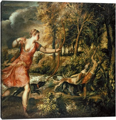 The Death of Actaeon, c.1565  Canvas Art Print