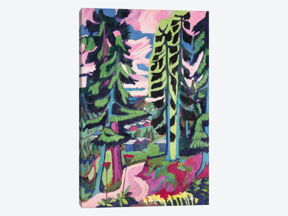 Wild Mountain by Ernst Ludwig Kirchner 1-piece Canvas Wall Art