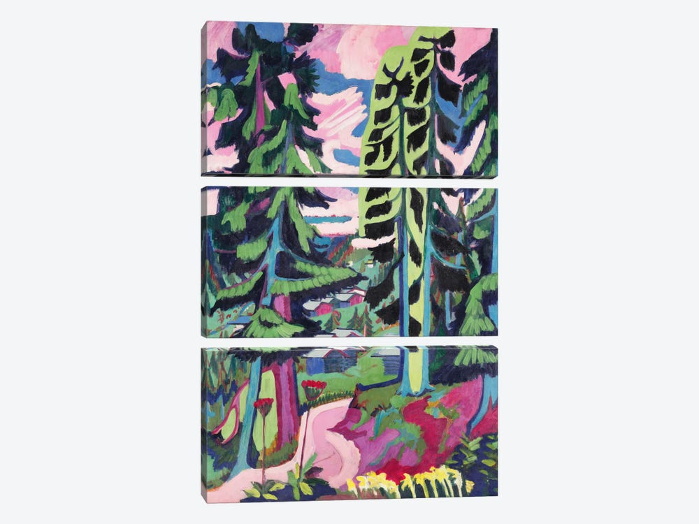 Wild Mountain  by Ernst Ludwig Kirchner 3-piece Canvas Artwork