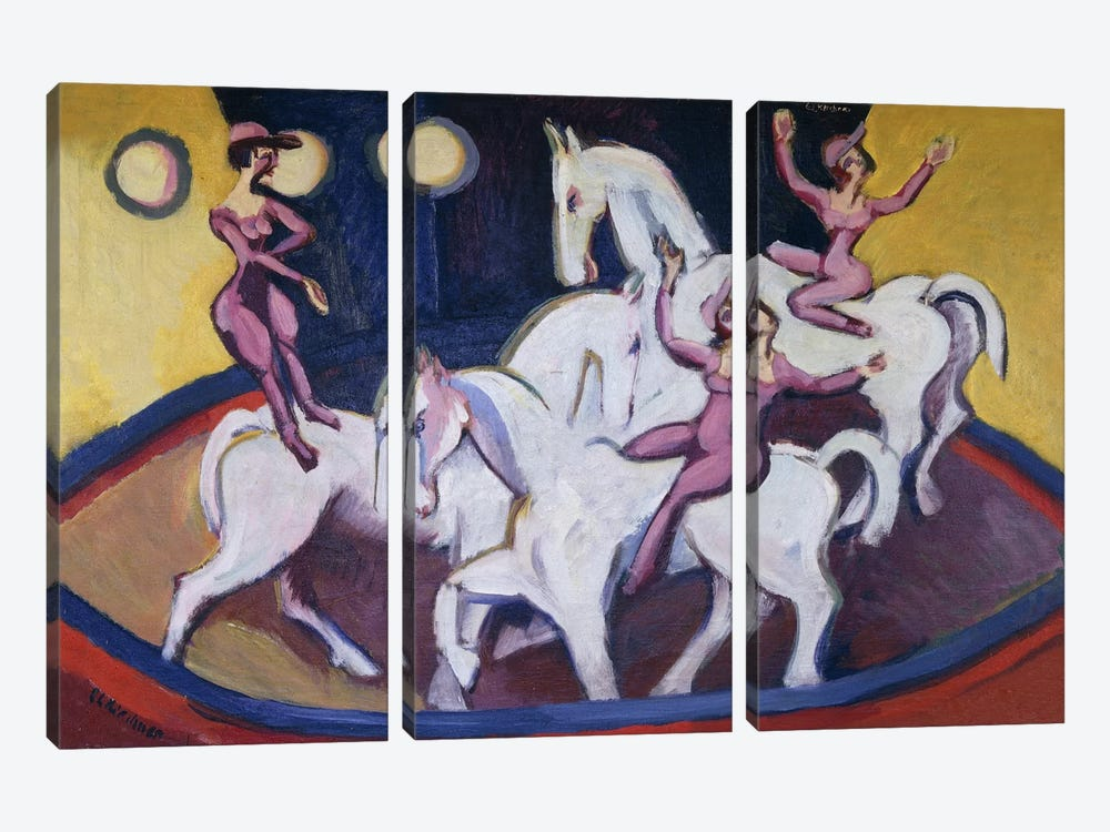 Jockeyakt, 1925  3-piece Canvas Art Print