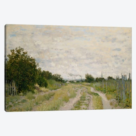 Path through the Vineyards, Argenteuil; Chemin dans les Vignes, Argenteuil, c.1872  Canvas Print #BMN5882} by Claude Monet Canvas Art Print
