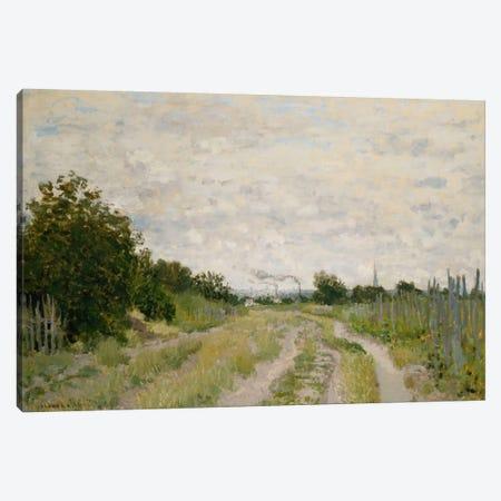 Path through the Vineyards, Argenteuil; Chemin dans les Vignes, Argenteuil, c.1872  Canvas Print #BMN5882} by Claude Monet Canvas Art Print