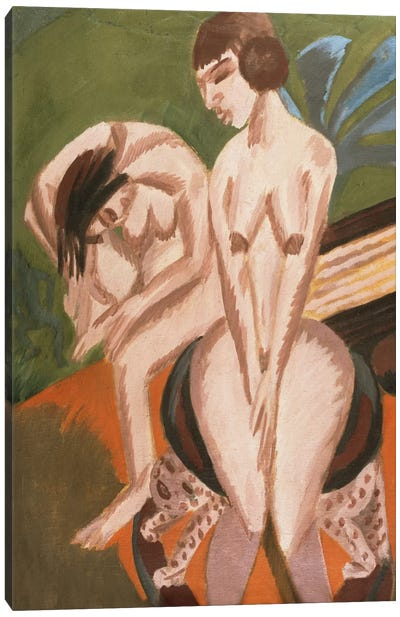 Two Nudes in the Room; Zwei Akte im Raum, 1914 Canvas Art Print