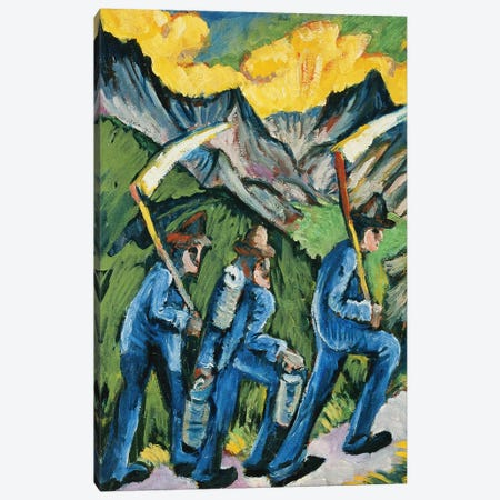 Alpleben, Triptych; Alpleben, Triptychon, 1918  Canvas Print #BMN5885} by Ernst Ludwig Kirchner Canvas Art