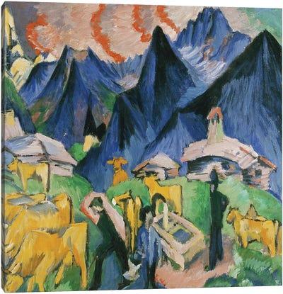 Alpleben, Triptych; Alpleben, Triptychon, 1918  Canvas Art Print