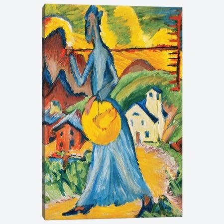 Alpleben, Triptych; Alpleben, Tryptychon, 1918  Canvas Print #BMN5887} by Ernst Ludwig Kirchner Canvas Artwork