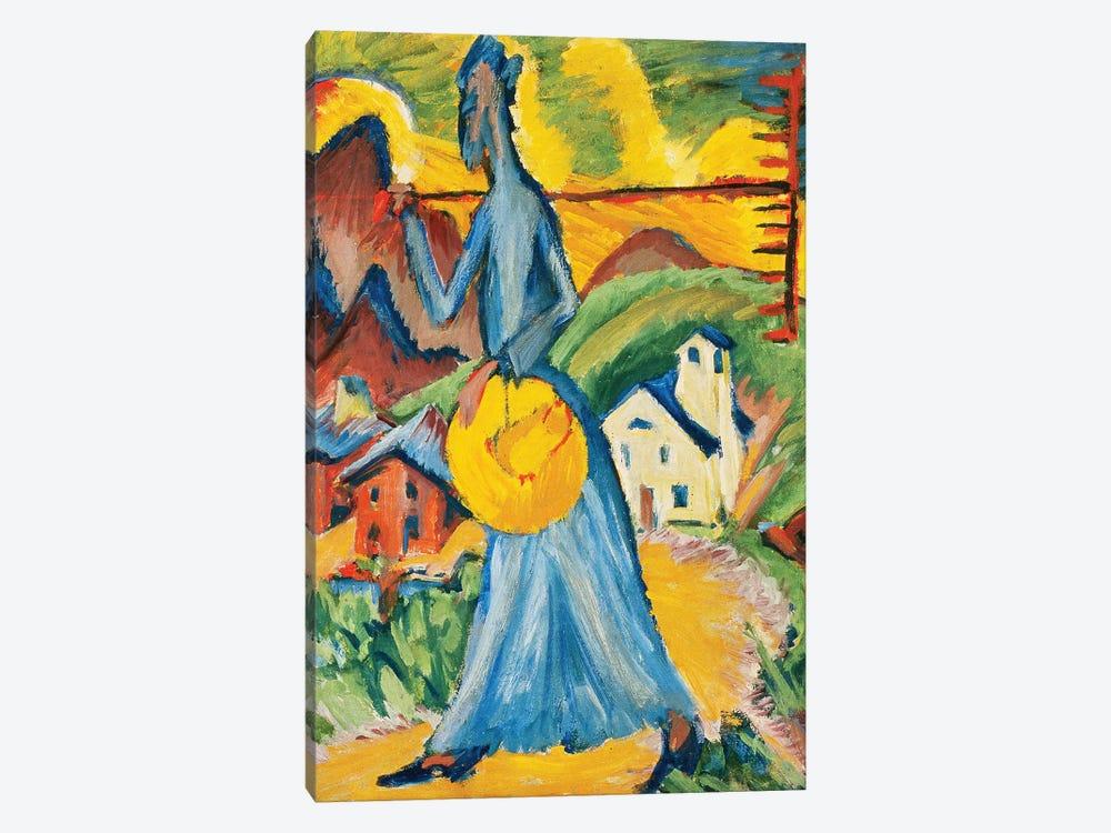 Alpleben, Triptych; Alpleben, Tryptychon, 1918  by Ernst Ludwig Kirchner 1-piece Art Print