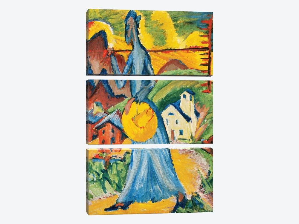 Alpleben, Triptych; Alpleben, Tryptychon, 1918  by Ernst Ludwig Kirchner 3-piece Canvas Art Print