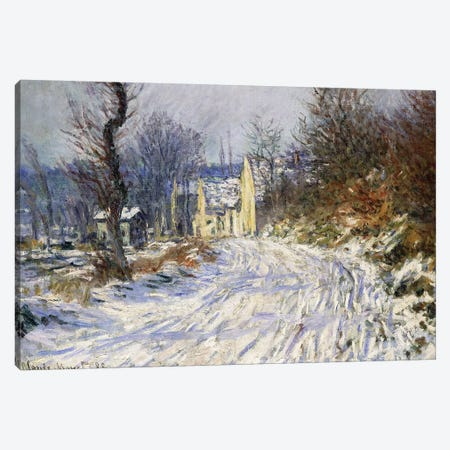 Road to Giverny in Winter; Route de Giverny en Hiver, 1885  Canvas Print #BMN5888} by Claude Monet Canvas Print