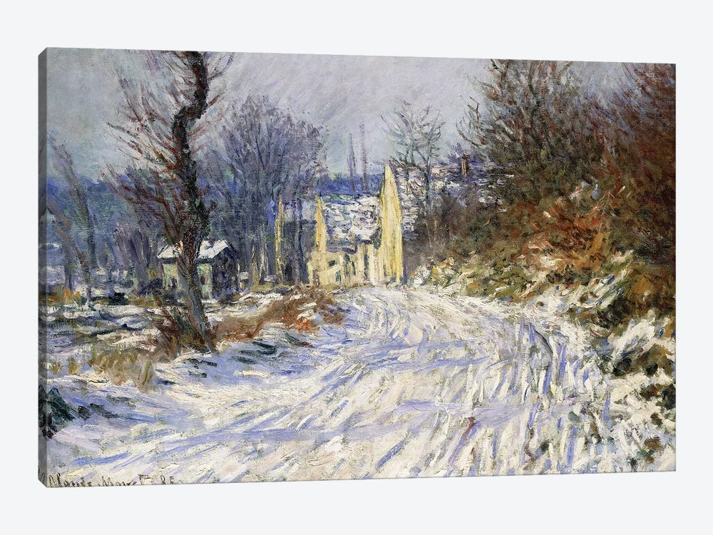 Road to Giverny in Winter; Route de Giverny en Hiver, 1885  by Claude Monet 1-piece Canvas Wall Art
