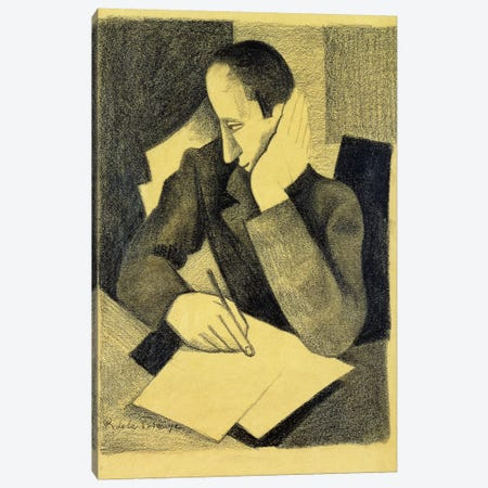 Man Writing: Study for Paludes; Homme Ecrivant: Etude pour Paludes, c.1920  Canvas Print #BMN5889} by Roger de la Fresnaye Canvas Art Print
