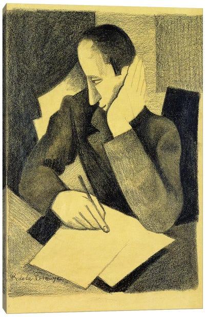 Man Writing: Study for Paludes; Homme Ecrivant: Etude pour Paludes, c.1920  Canvas Art Print
