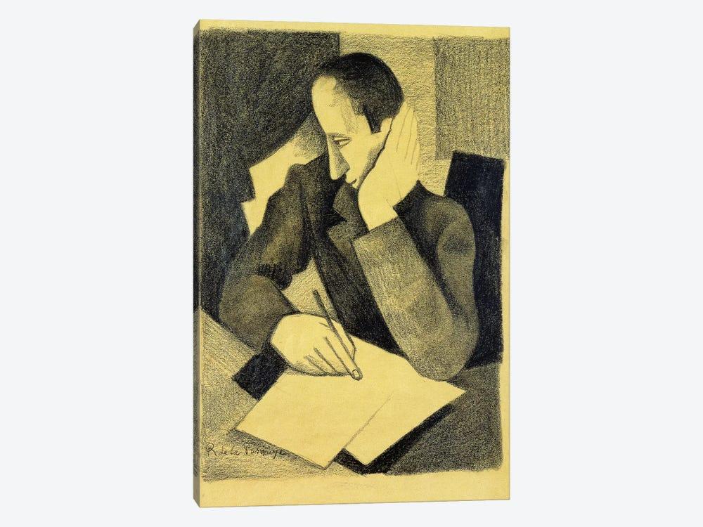 Man Writing: Study for Paludes; Homme Ecrivant: Etude pour Paludes, c.1920  by Roger de la Fresnaye 1-piece Canvas Art Print