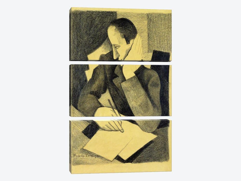 Man Writing: Study for Paludes; Homme Ecrivant: Etude pour Paludes, c.1920  by Roger de la Fresnaye 3-piece Canvas Print