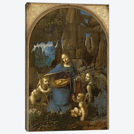 The Virgin of the Rocks  Canvas Print #BMN588} by Leonardo da Vinci Canvas Print