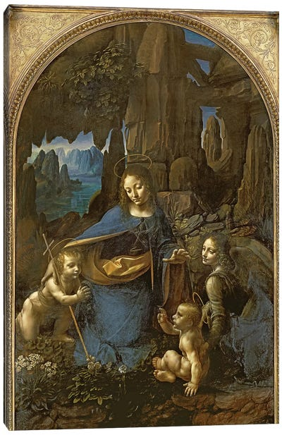 The Virgin of the Rocks  Canvas Art Print