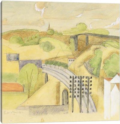 Study for The Meulan Viaduct; Etude pour le Viaduc de Meulan, 1912  Canvas Art Print