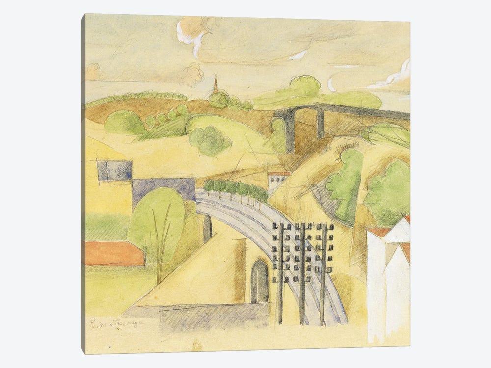 Study for The Meulan Viaduct; Etude pour le Viaduc de Meulan, 1912  by Roger de la Fresnaye 1-piece Canvas Art Print