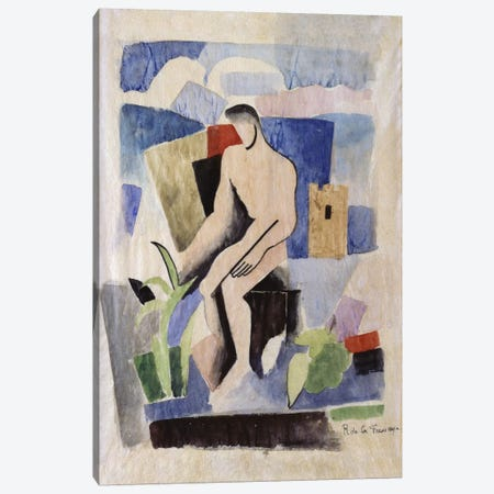 Man in the Country, study for Paludes; Homme dans un Paysage, Etude pour Paludes, c.1920  Canvas Print #BMN5891} by Roger de la Fresnaye Canvas Art
