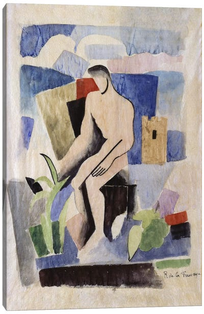 Man in the Country, study for Paludes; Homme dans un Paysage, Etude pour Paludes, c.1920 Canvas Art Print