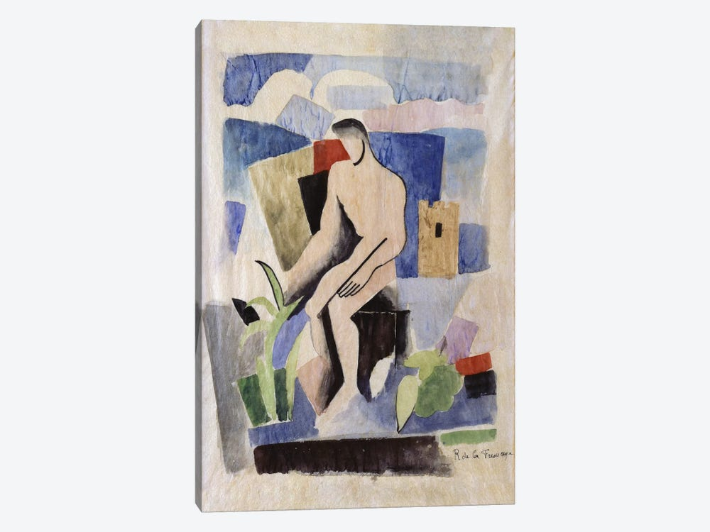 Man in the Country, study for Paludes; Homme dans un Paysage, Etude pour Paludes, c.1920  by Roger de la Fresnaye 1-piece Canvas Art