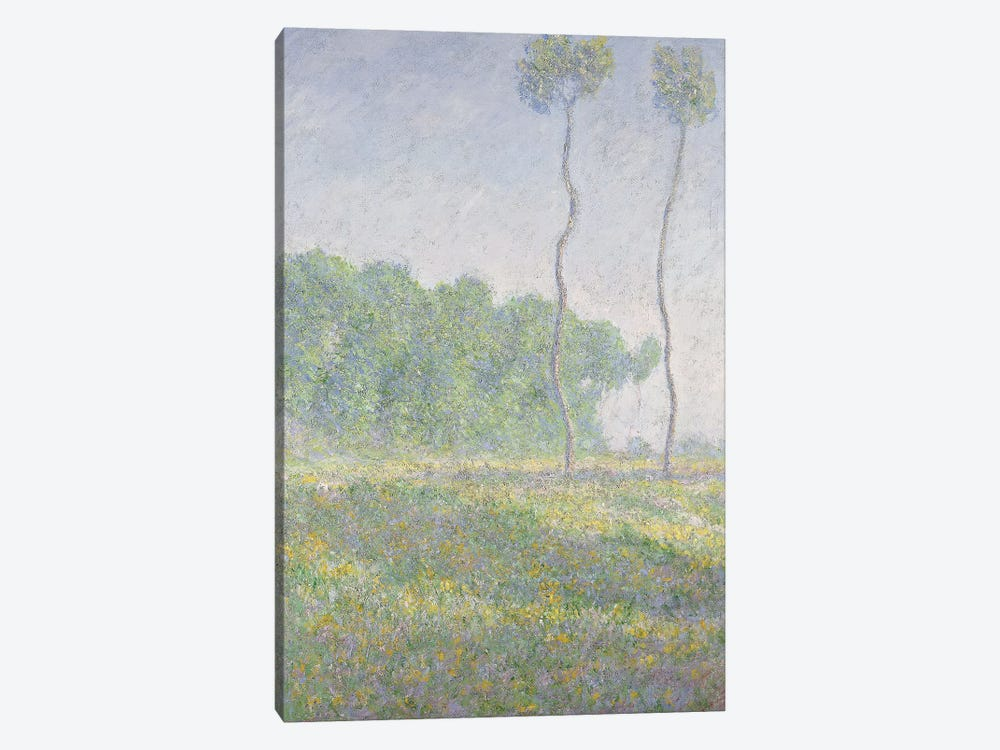 Landscape in the Spring  by Claude Monet 1-piece Canvas Art Print