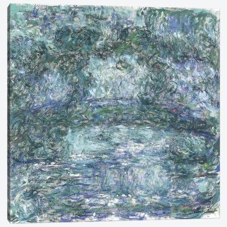 The Japanese Bridge; Le Pont Japonais, c.1918-1924  3-Piece Canvas #BMN5893} by Claude Monet Canvas Artwork